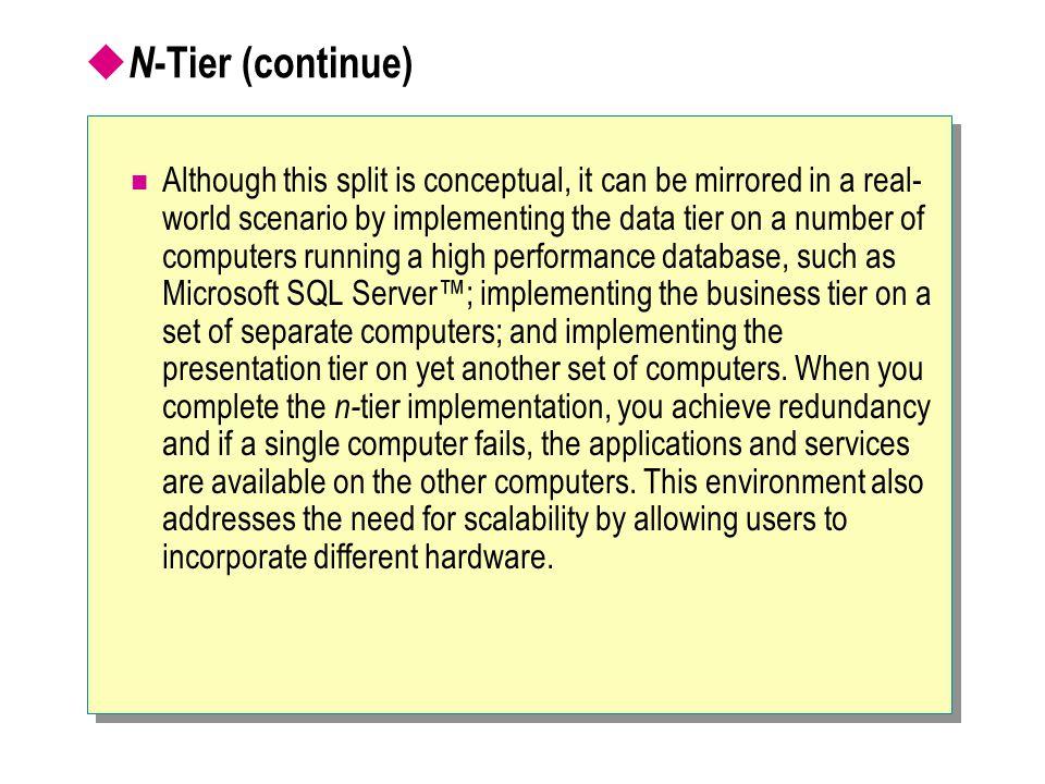 N-Tier (continue)