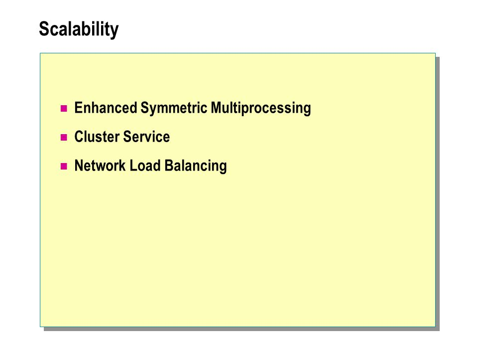Scalability Enhanced Symmetric Multiprocessing Cluster Service