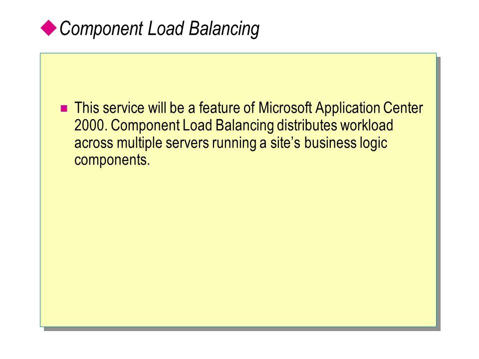 Component Load Balancing