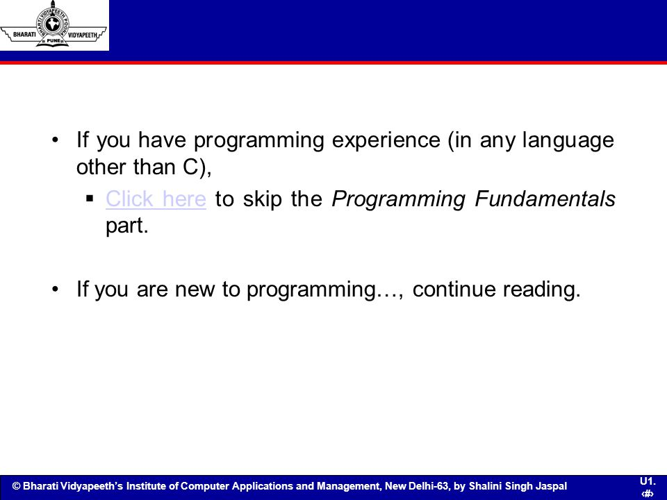 If you have programming experience (in any language other than C),