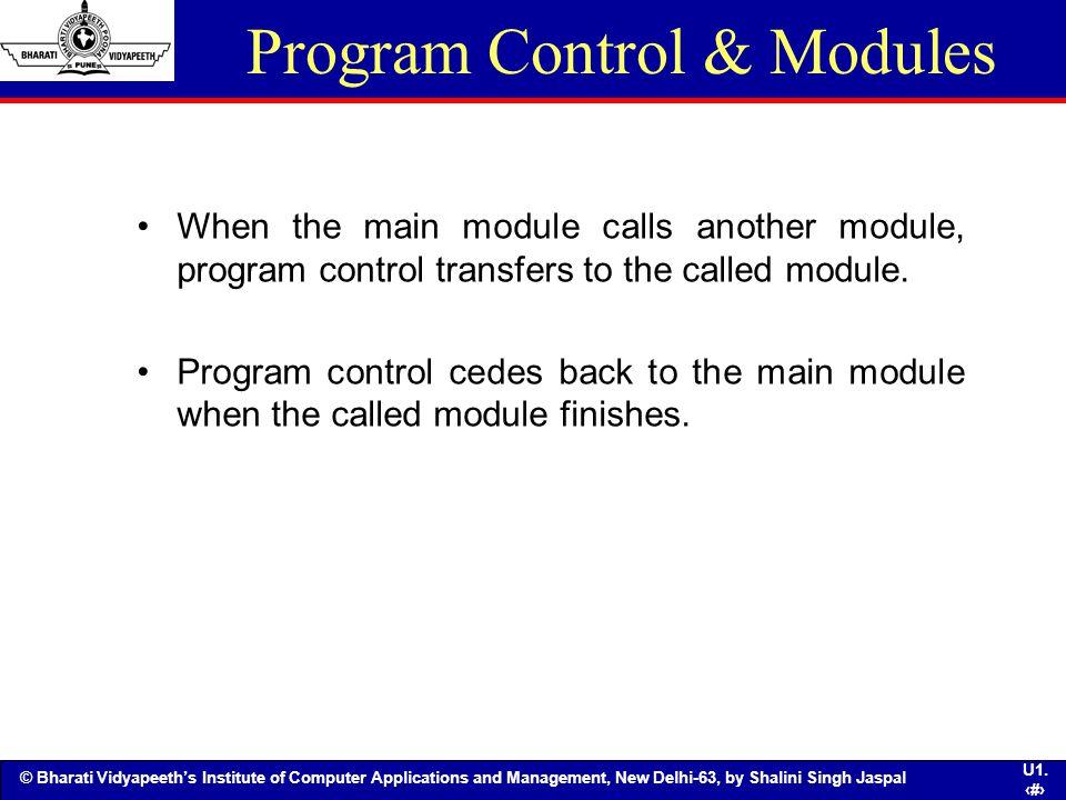 Program Control & Modules