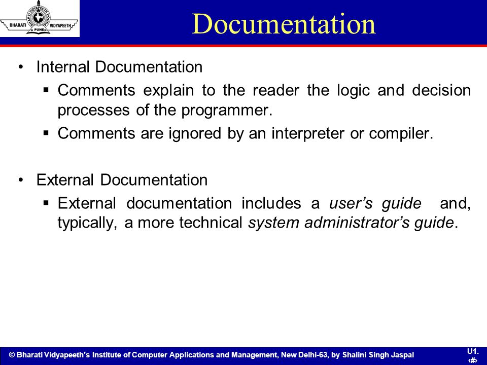 Documentation Internal Documentation