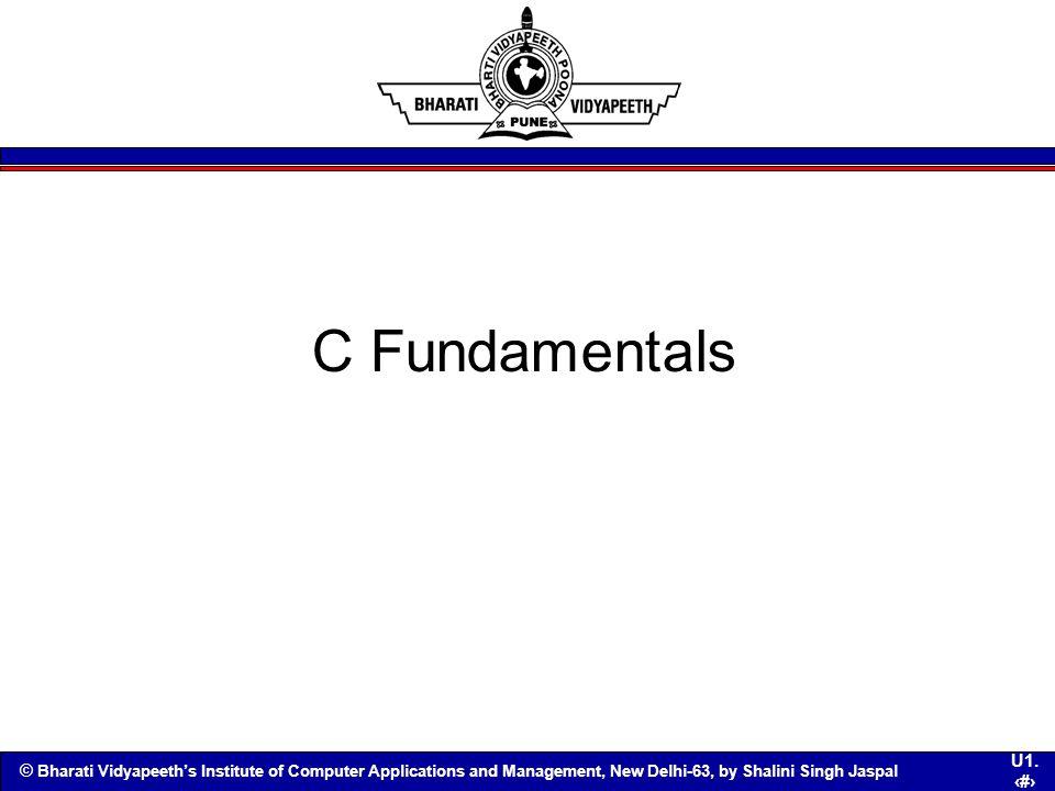 C Fundamentals