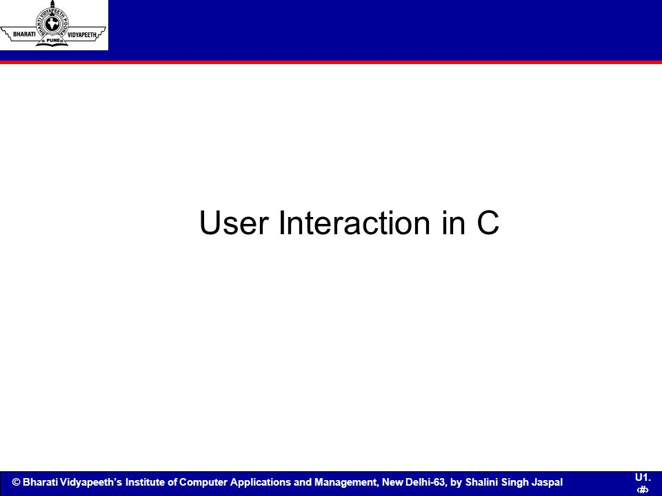 User Interaction in C