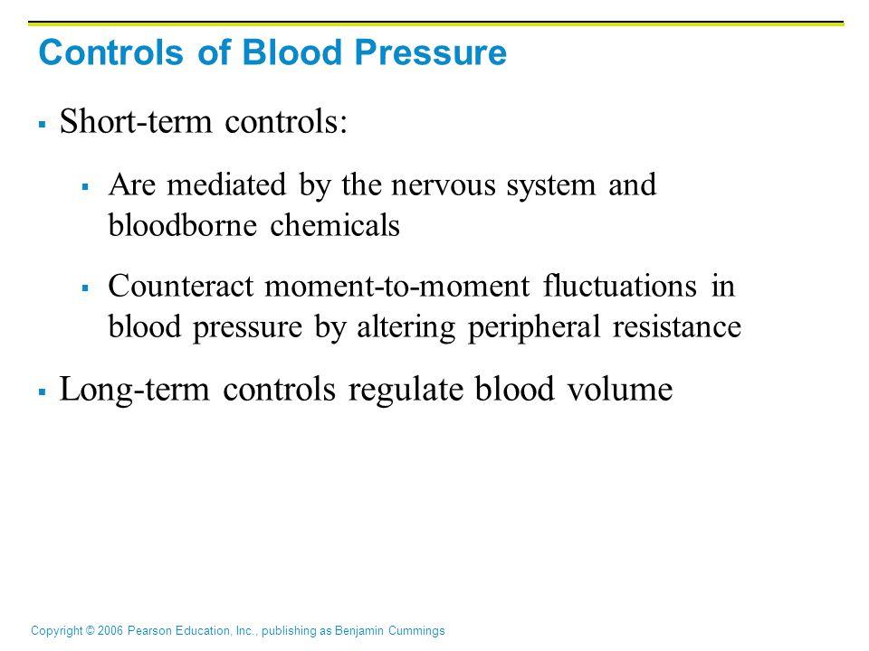Controls of Blood Pressure