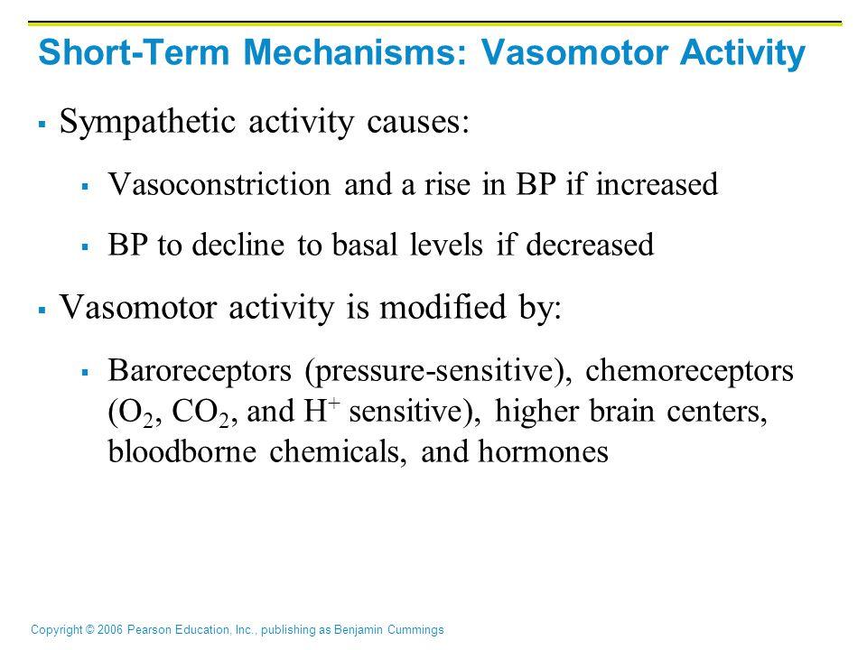 Short-Term Mechanisms: Vasomotor Activity