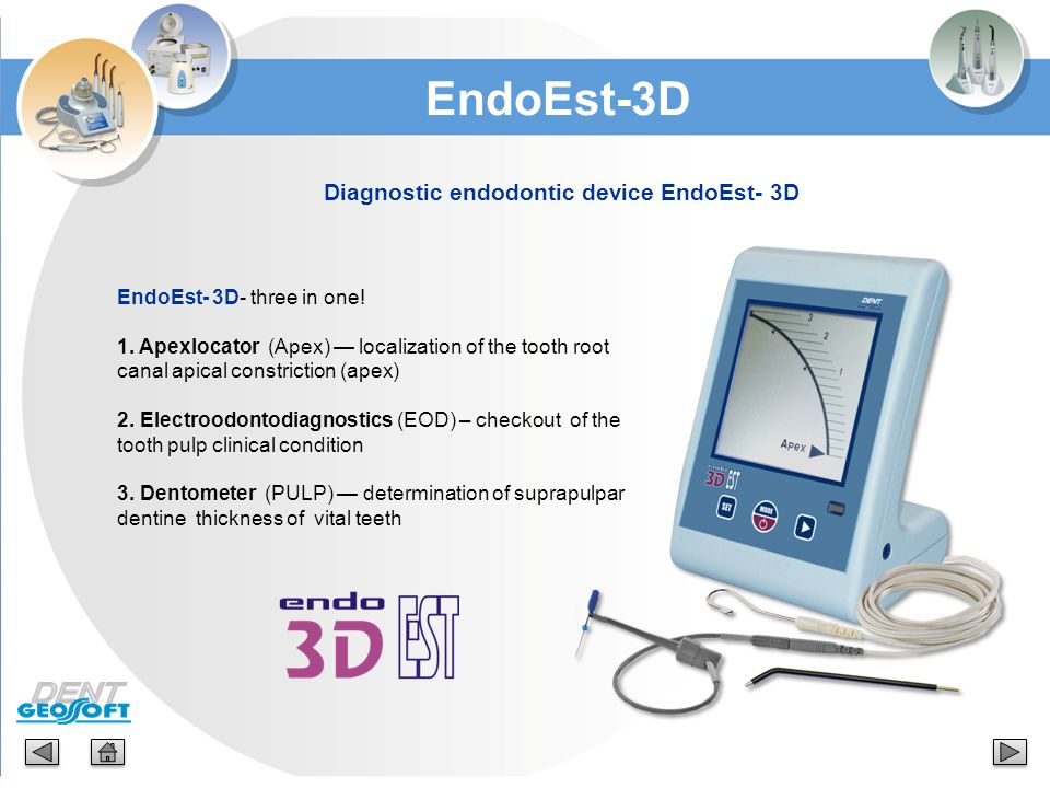 Diagnostic endodontic device EndoEst- 3D