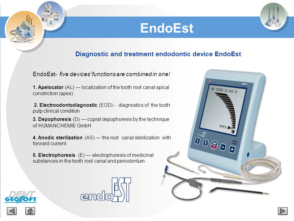 Diagnostic and treatment endodontic device EndoEst
