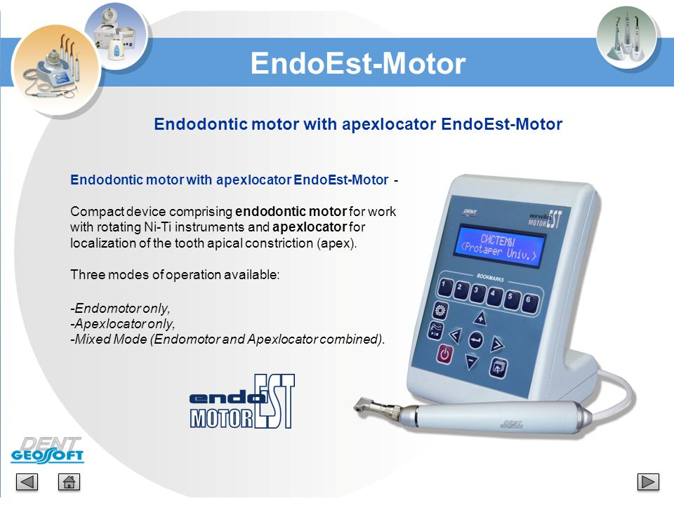 Endodontic motor with apexlocator EndoEst-Motor