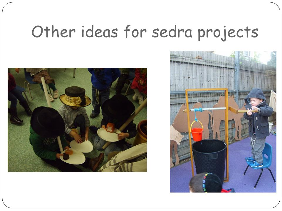 Other ideas for sedra projects