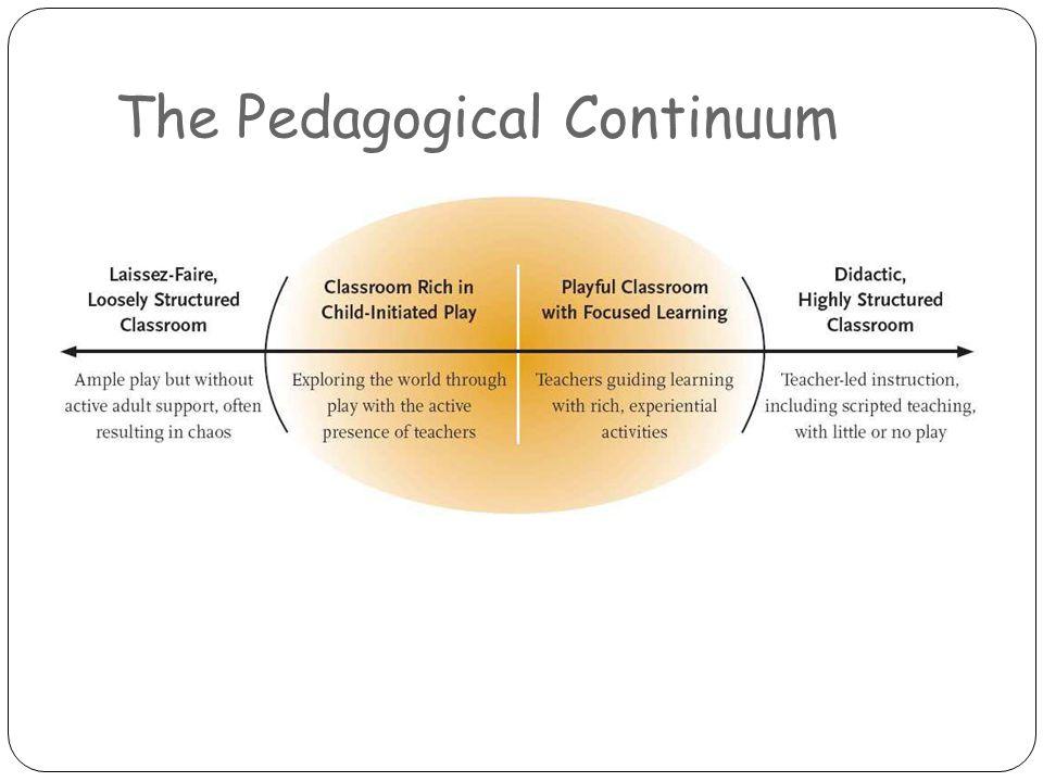 The Pedagogical Continuum