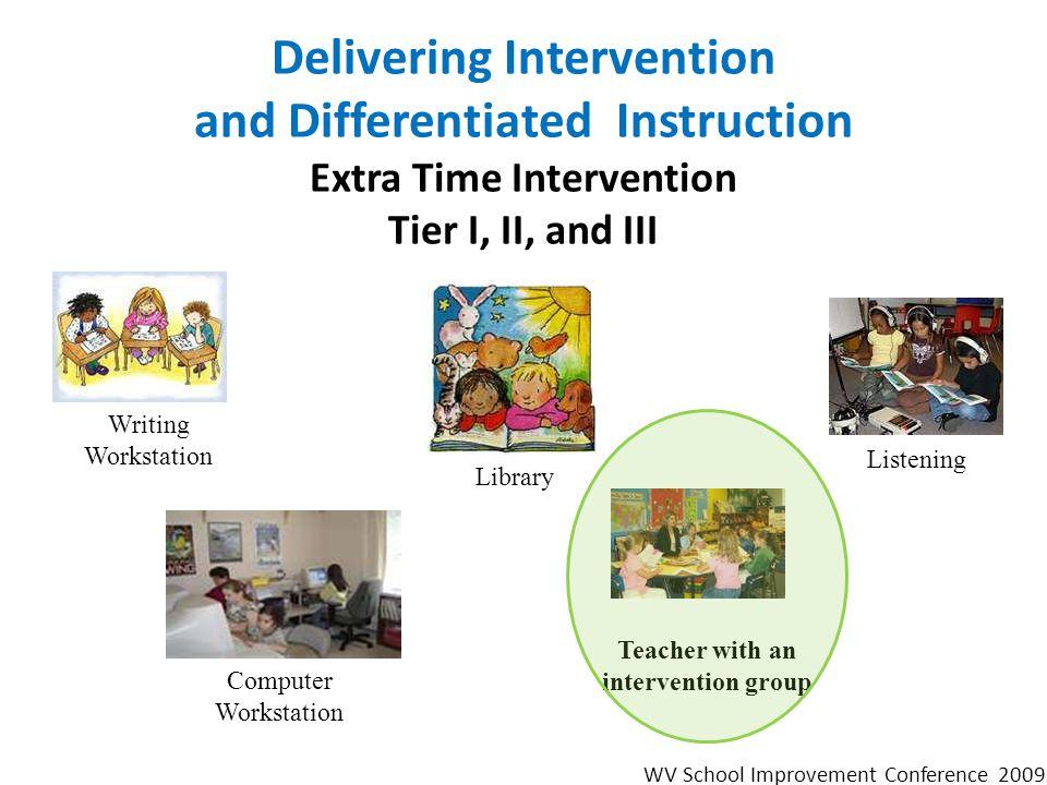 Teacher with an intervention group