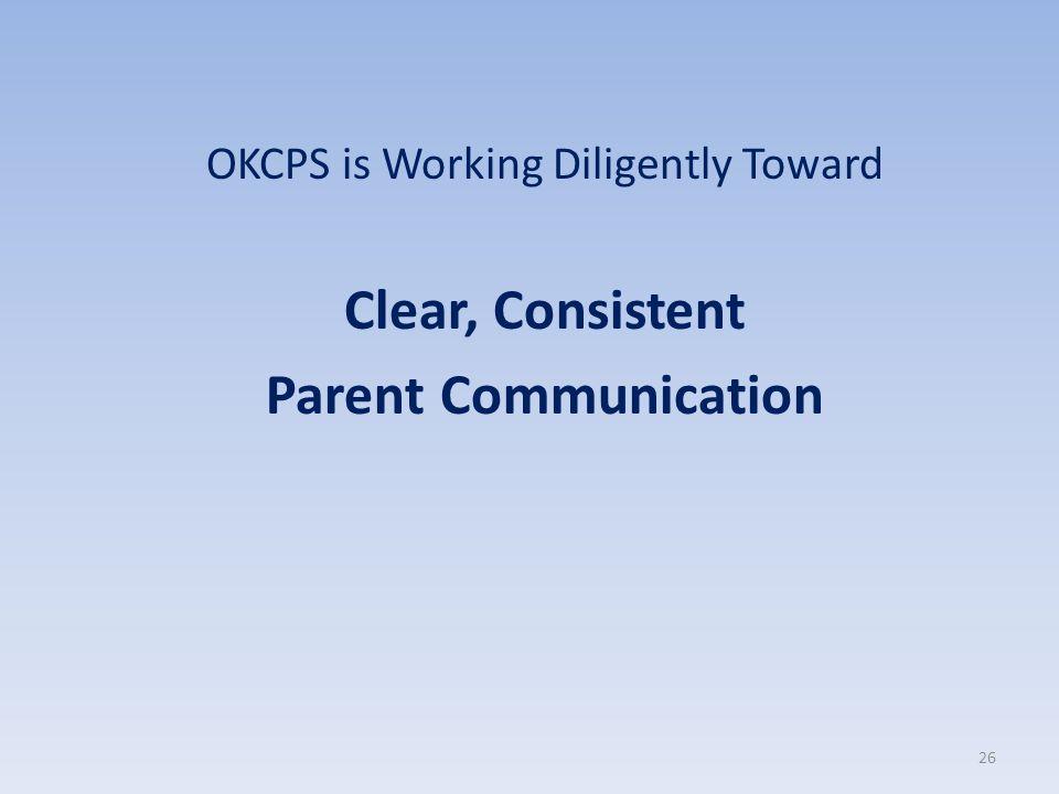 OKCPS is Working Diligently Toward