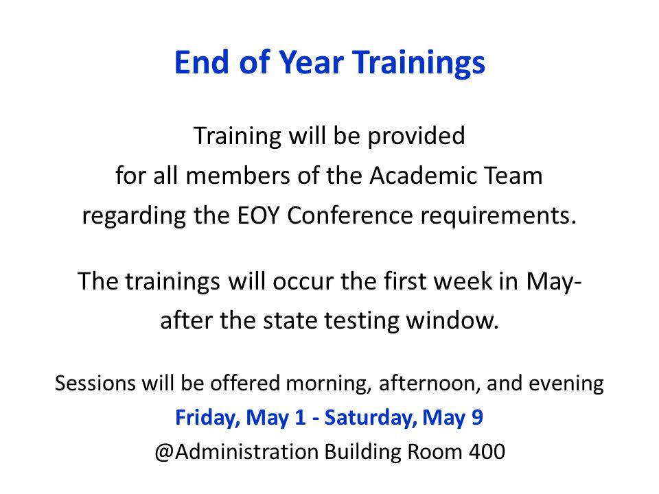 Friday, May 1 - Saturday, May 9