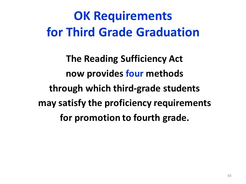OK Requirements for Third Grade Graduation