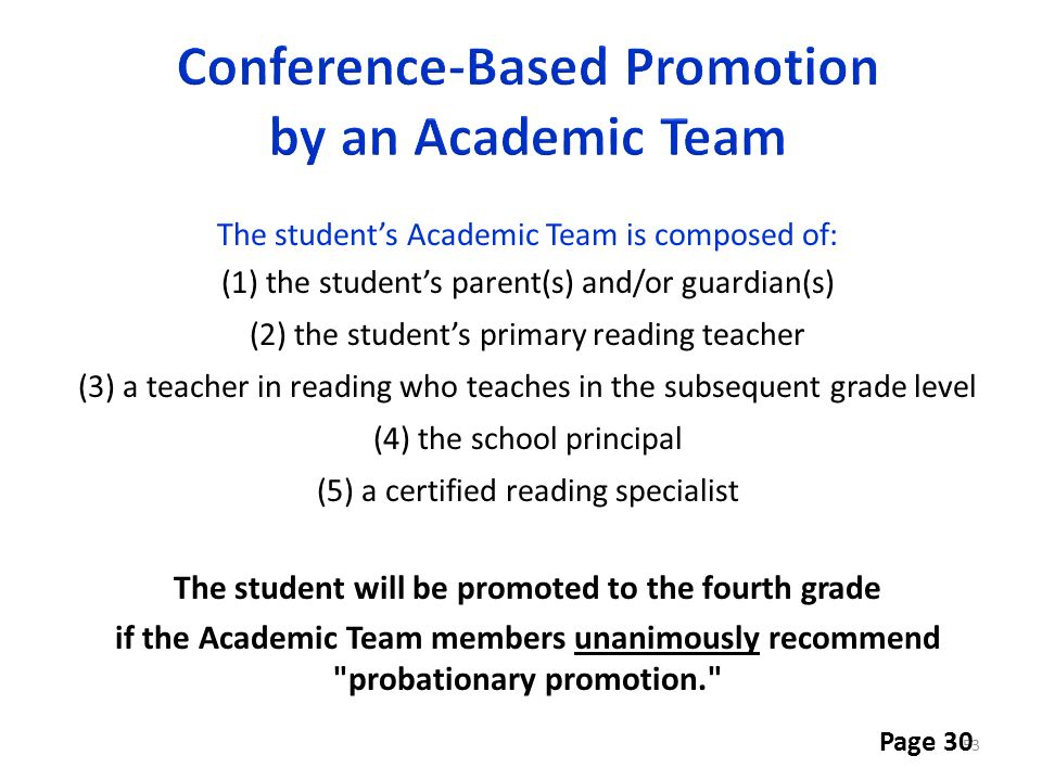 Conference-Based Promotion by an Academic Team