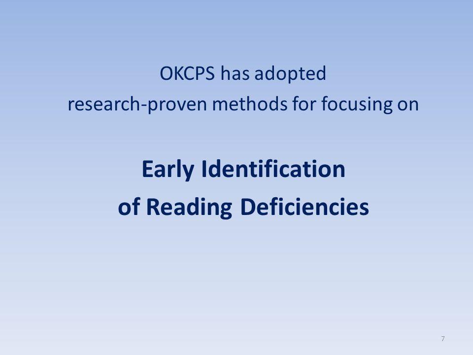of Reading Deficiencies
