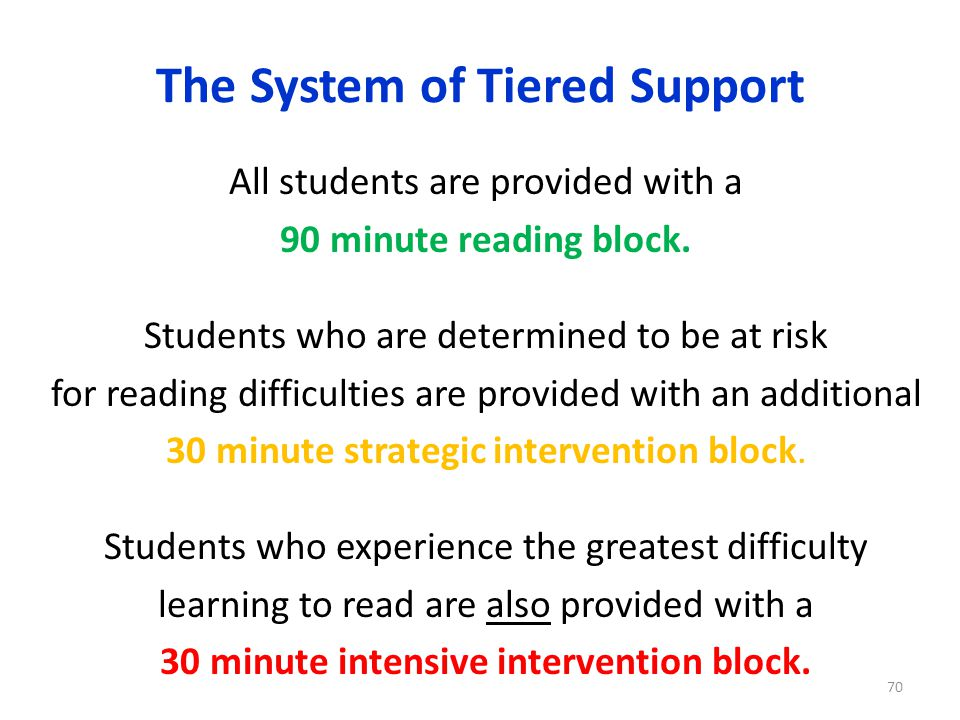 The System of Tiered Support