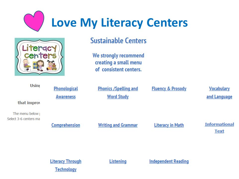 Love My Literacy Centers