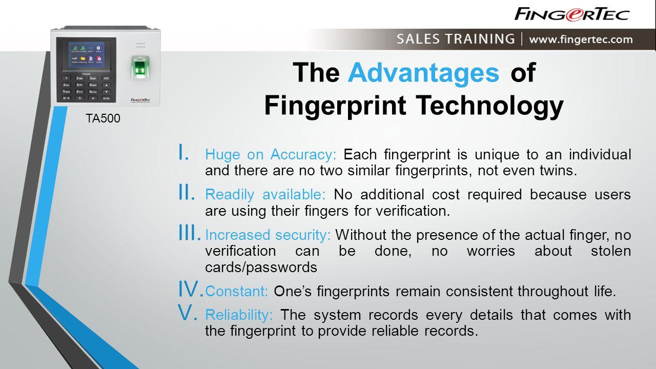 The Advantages of Fingerprint Technology