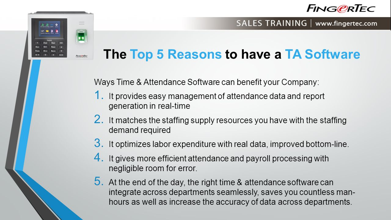 The Top 5 Reasons to have a TA Software
