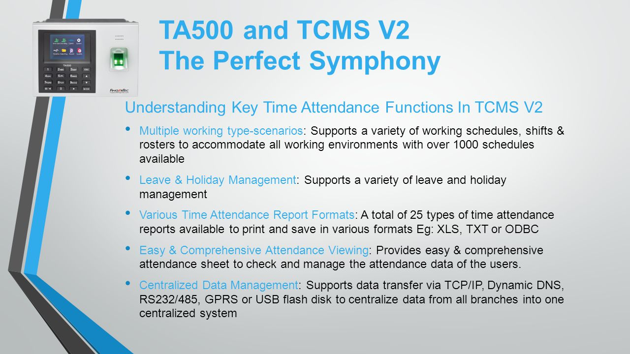 TA500 and TCMS V2 The Perfect Symphony