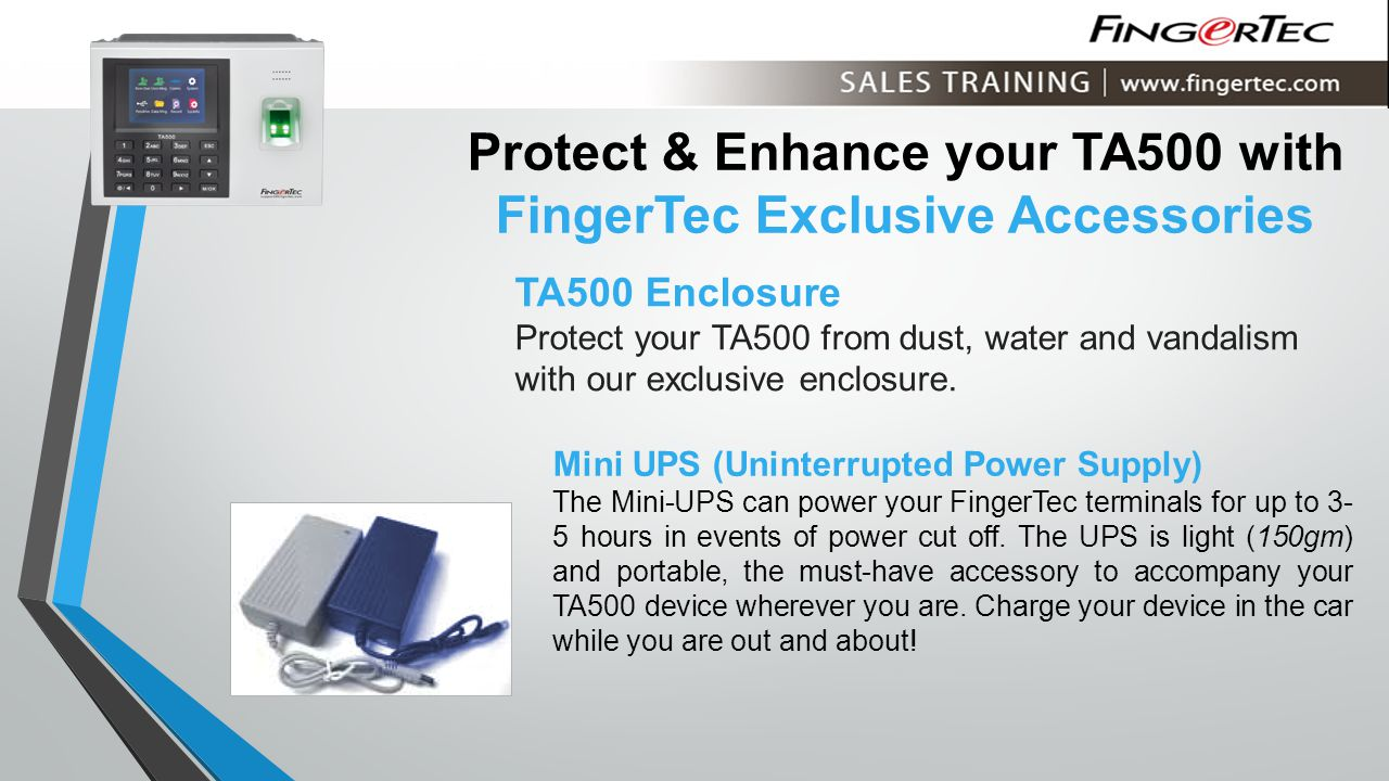 Protect & Enhance your TA500 with FingerTec Exclusive Accessories