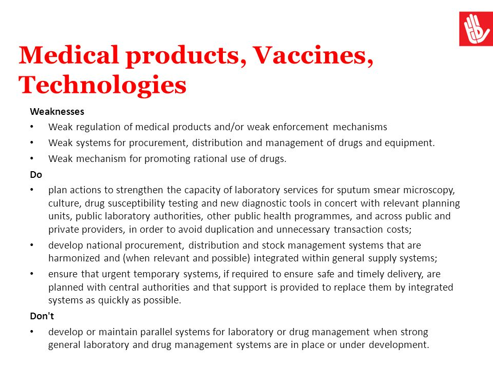 Medical products, Vaccines, Technologies