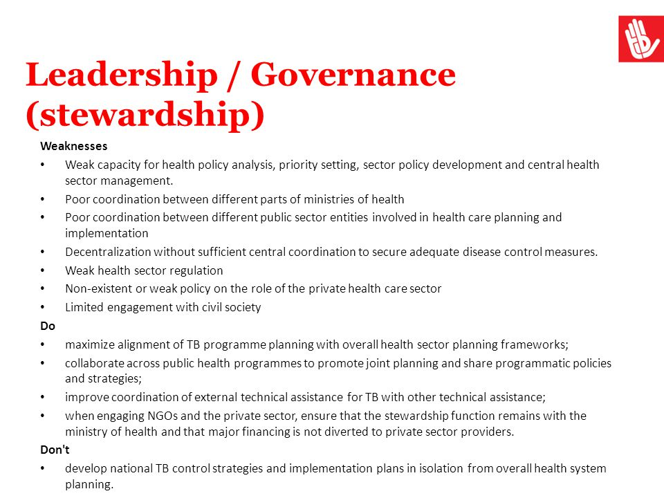Leadership / Governance (stewardship)