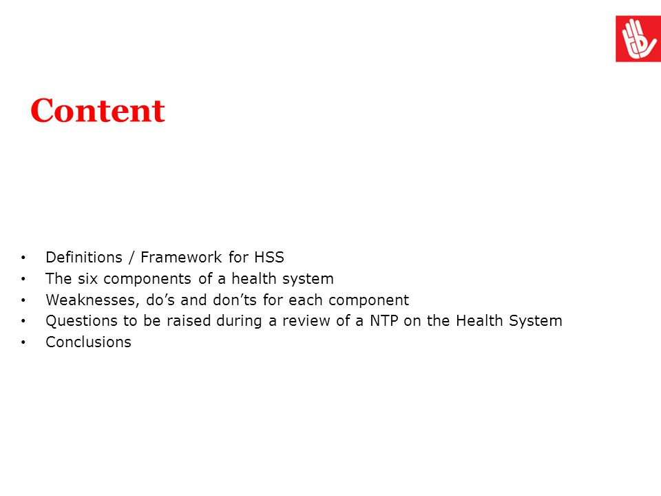 Content Definitions / Framework for HSS