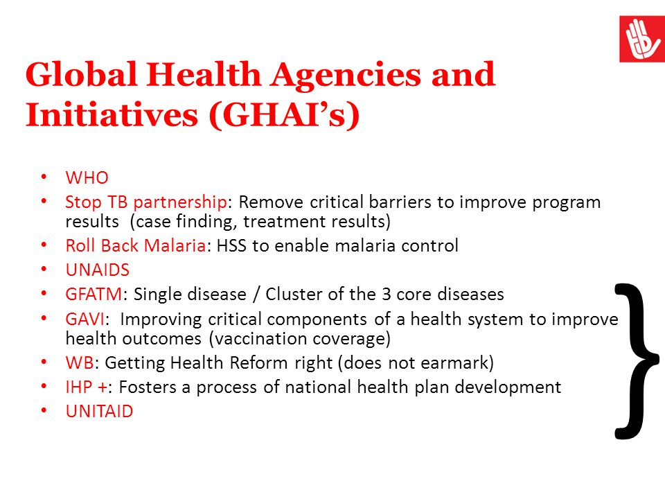 Global Health Agencies and Initiatives (GHAI's)