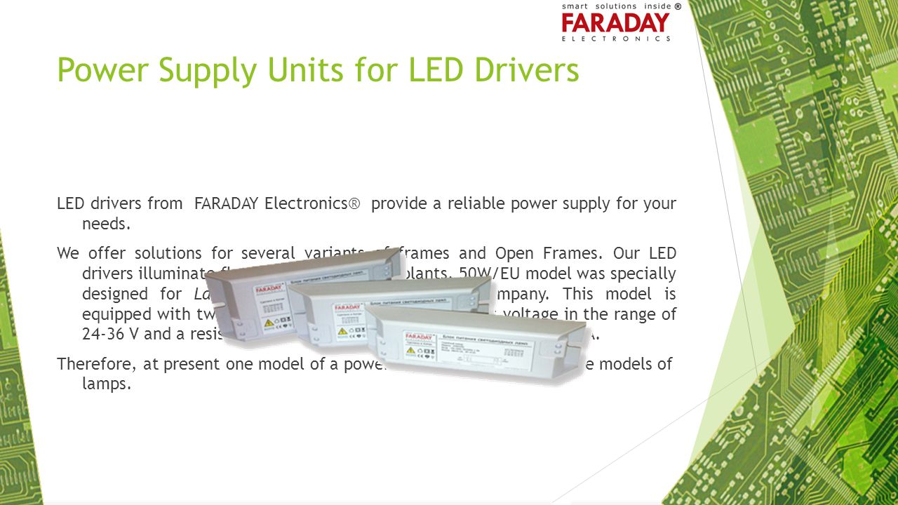 Power Supply Units for LED Drivers