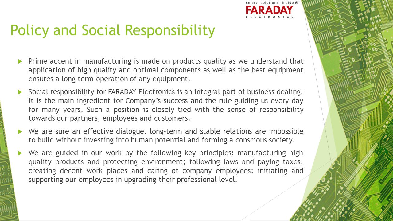 Policy and Social Responsibility