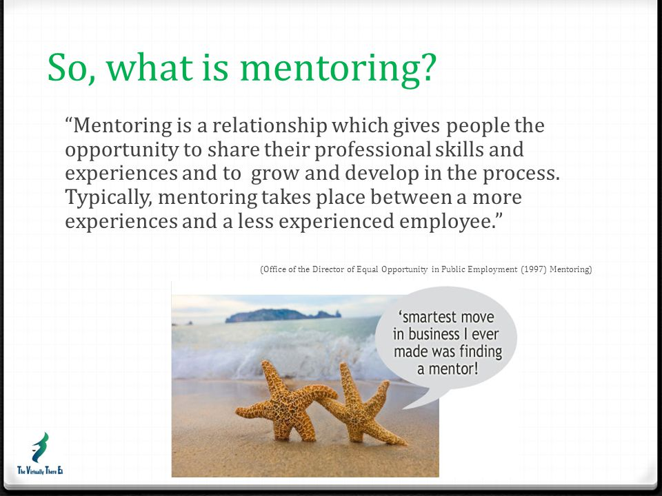 So, what is mentoring
