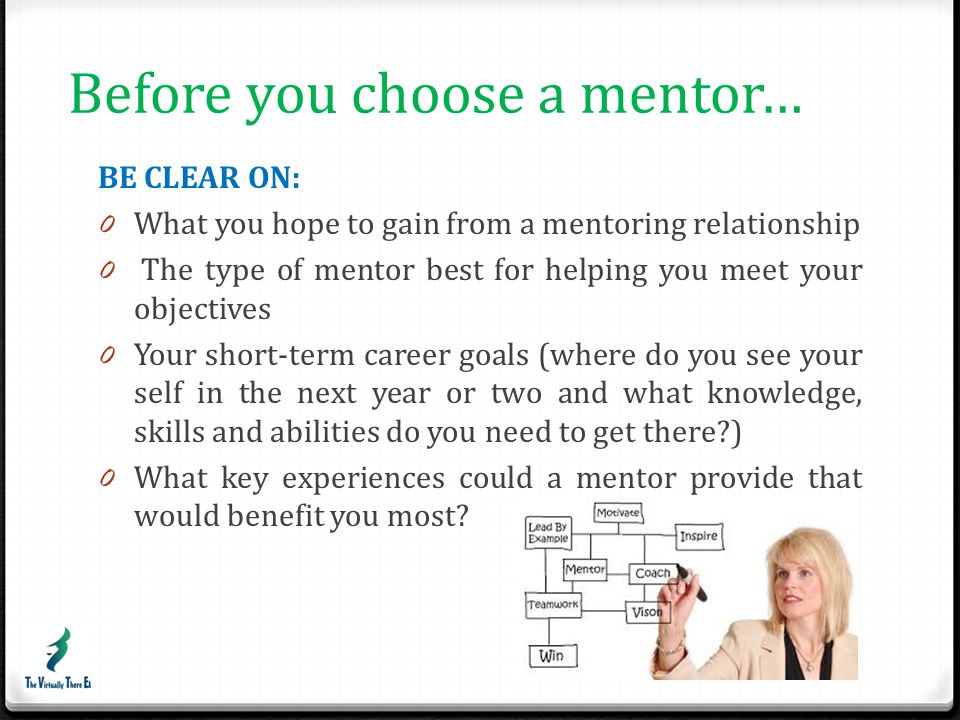 Before you choose a mentor…
