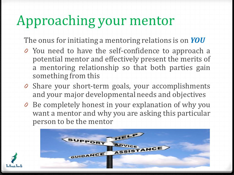 Approaching your mentor