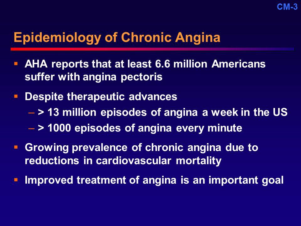 Epidemiology of Chronic Angina