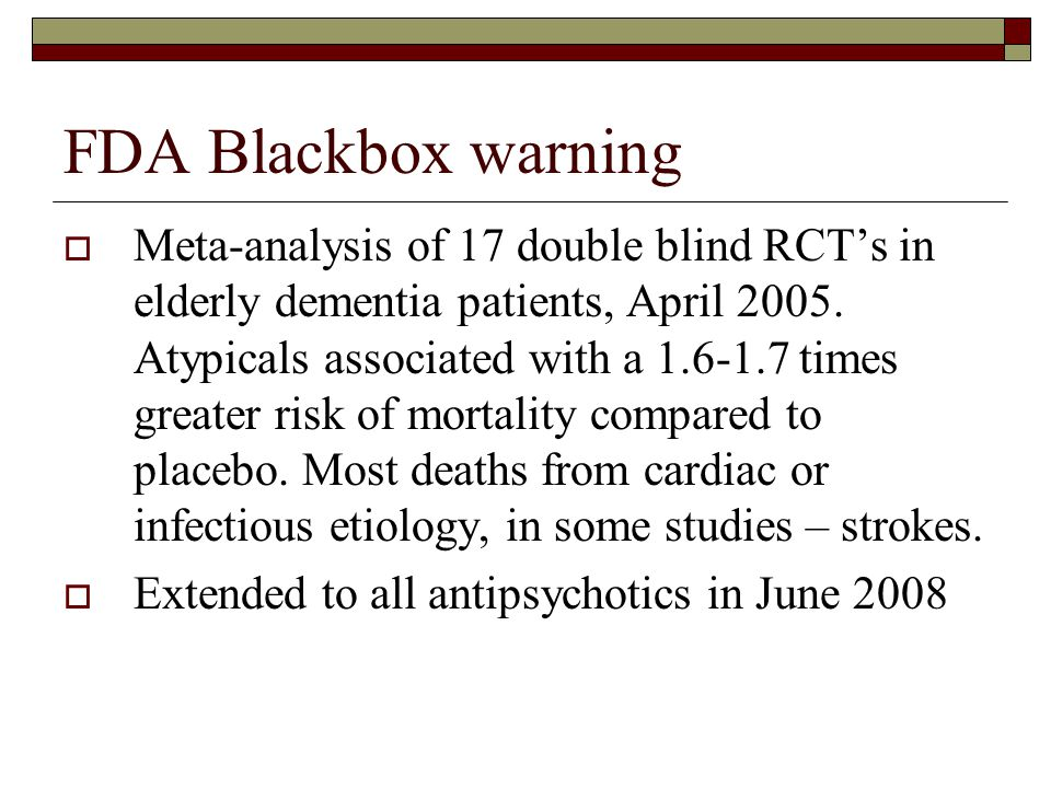 FDA Blackbox warning