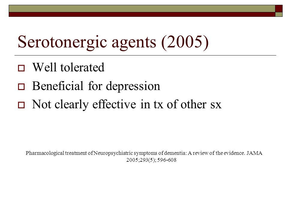 Serotonergic agents (2005)