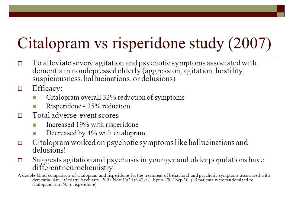 Citalopram vs risperidone study (2007)