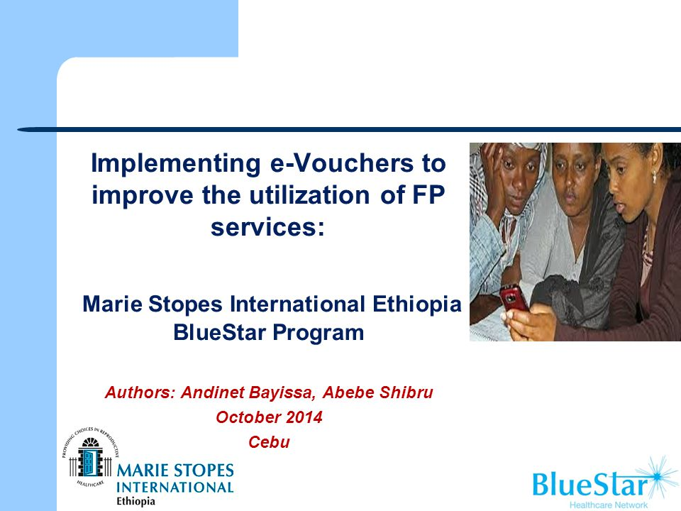 Implementing e-Vouchers to improve the utilization of FP services: