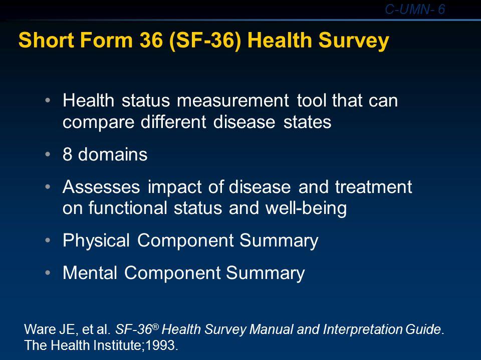 Short Form 36 (SF-36) Health Survey