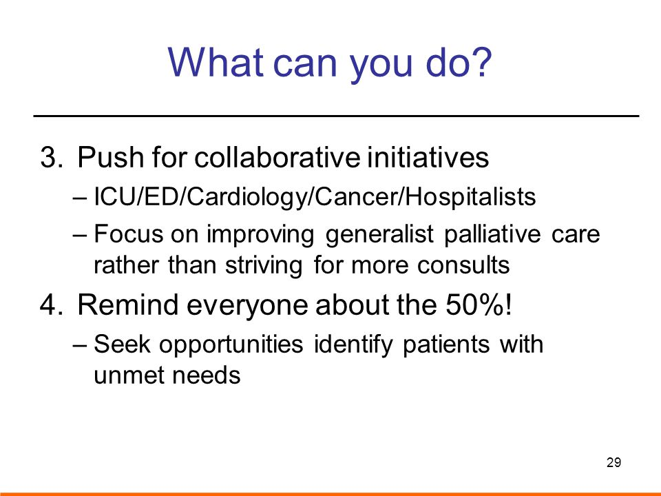 What can you do Push for collaborative initiatives
