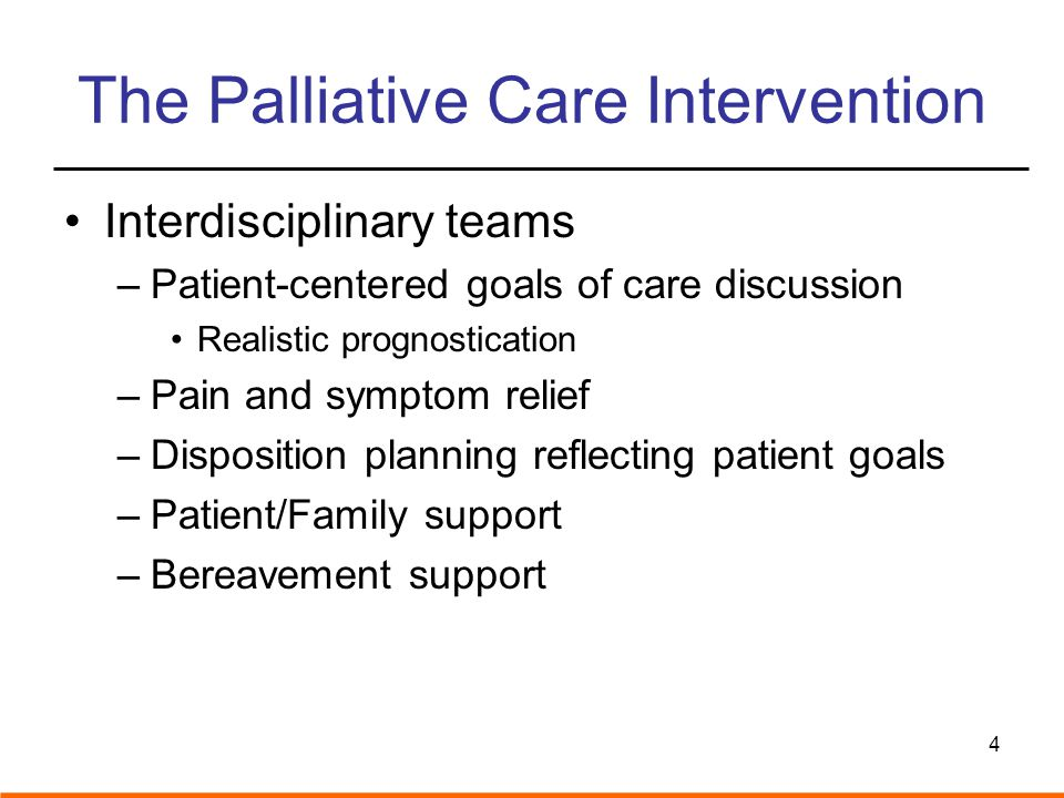 The Palliative Care Intervention