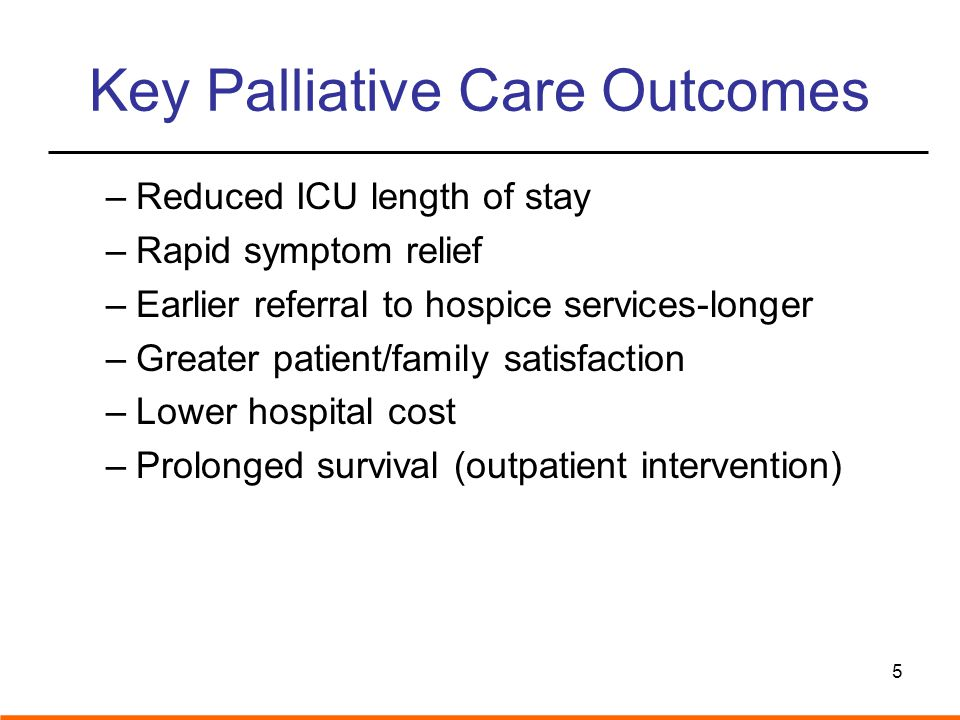 Key Palliative Care Outcomes