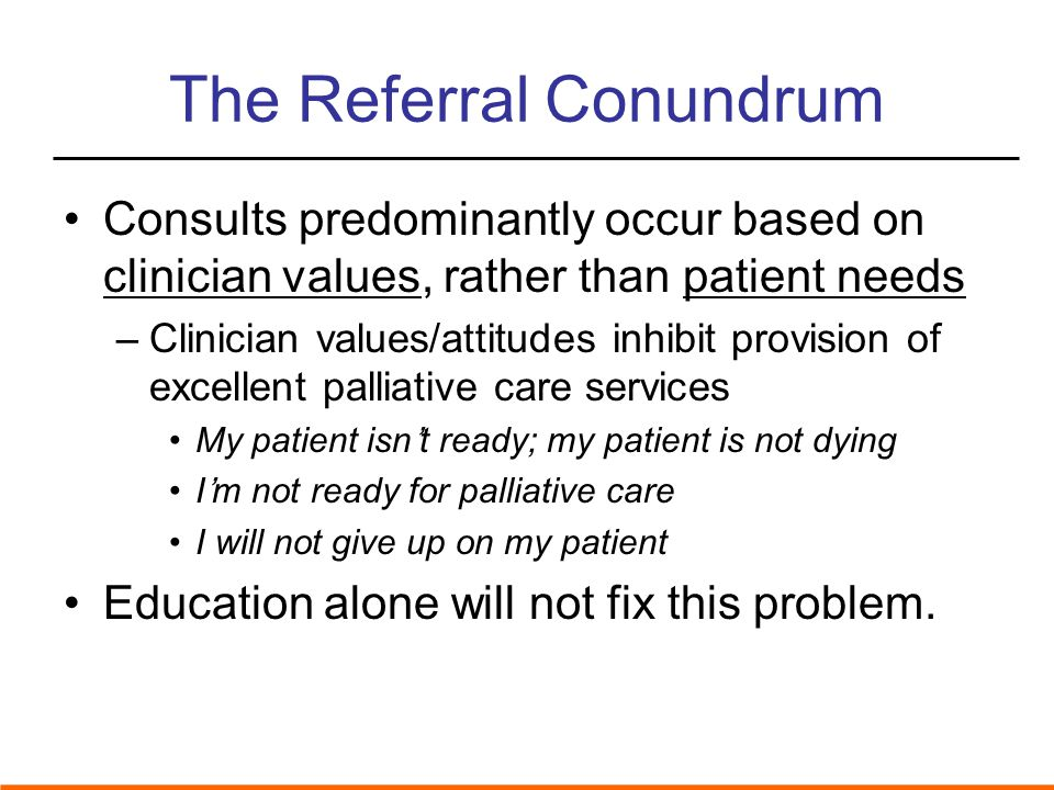 The Referral Conundrum