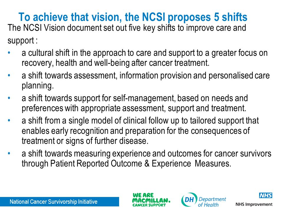 To achieve that vision, the NCSI proposes 5 shifts