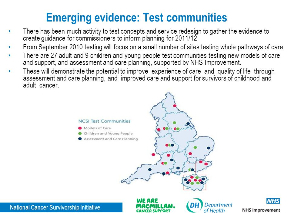Emerging evidence: Test communities