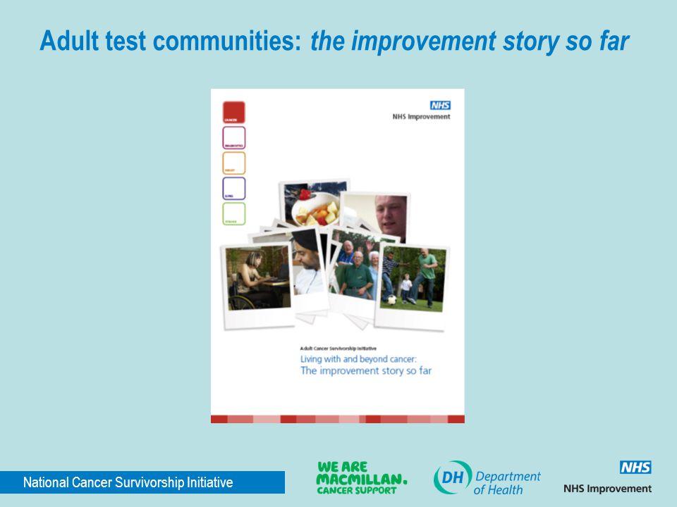 Adult test communities: the improvement story so far