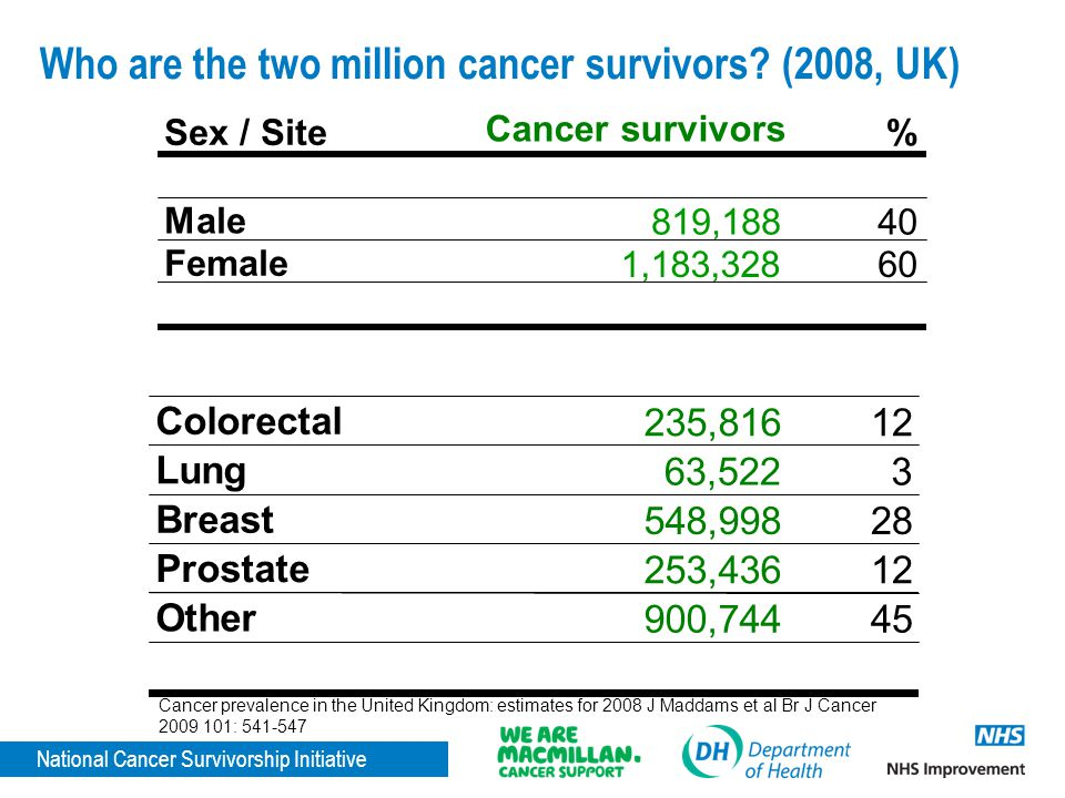 Who are the two million cancer survivors (2008, UK)